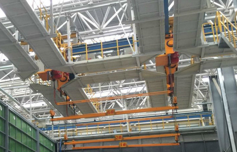 Reasonable Structure ISO CE Crane For Hot Dip Galvanzing with Reasonable Structure