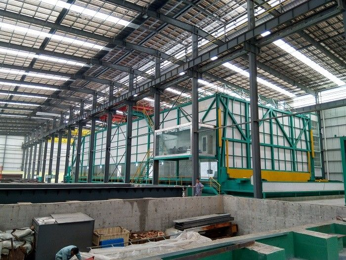 Durable Hot Dip Galvanizing Plant  5mm - 8mm Large Reduce The Zinc Consumption